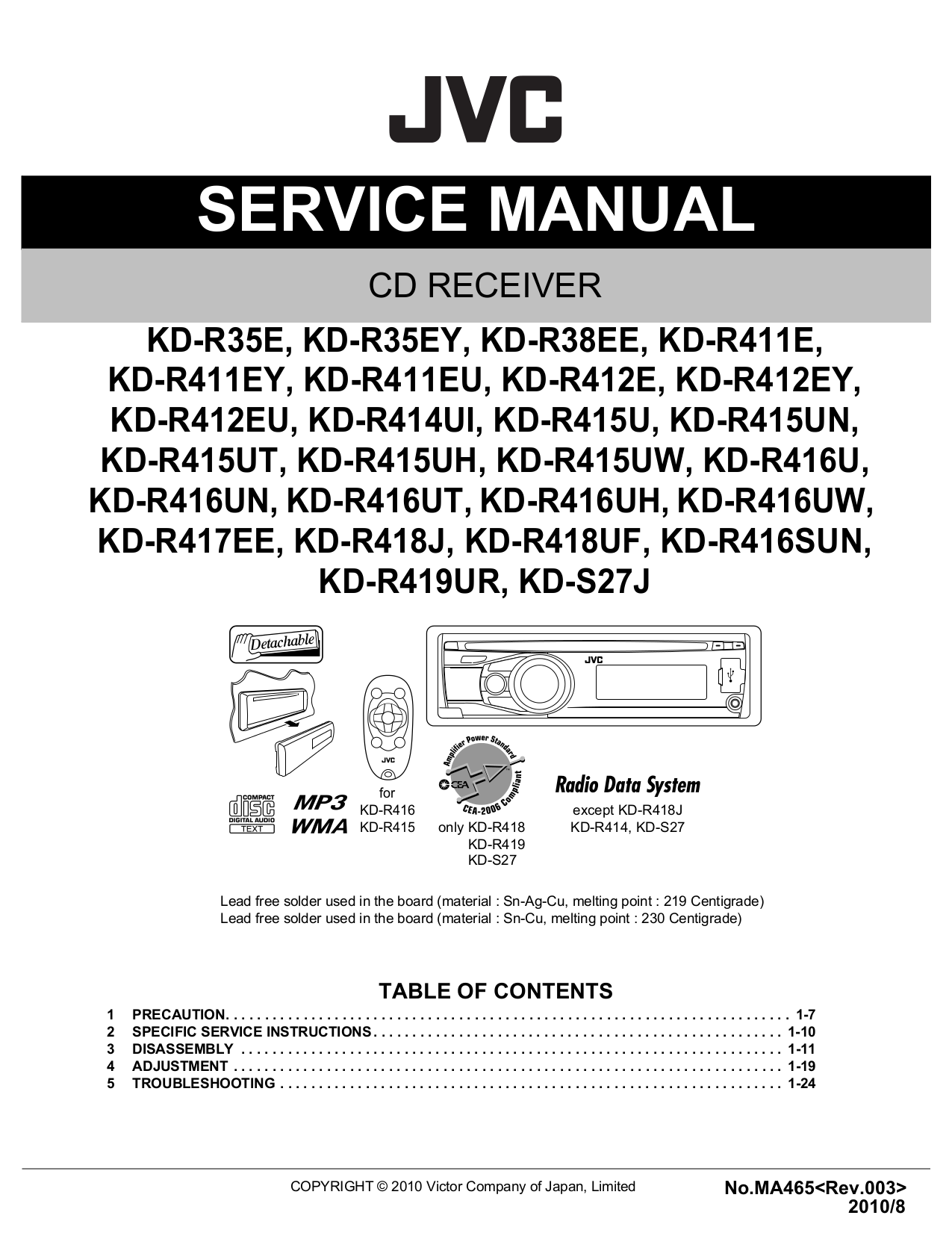 download free pdf for jvc kd r520 car receiver manual rh umlib com jvc kd r520 manual en español jvc kd-r520 manual