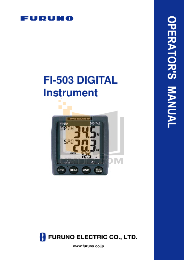 pdf for Furuno GPS FI-303 manual