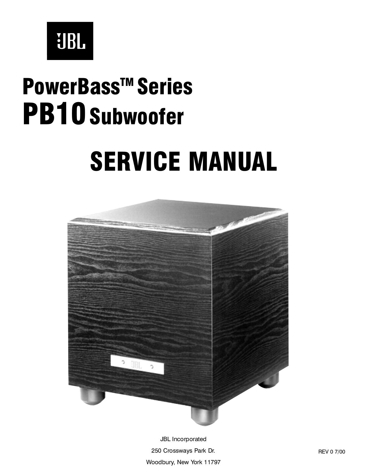 download free pdf for jbl pb10 subwoofer manual rh umlib com JBL Studio Monitors 6208 JBL 125Sat