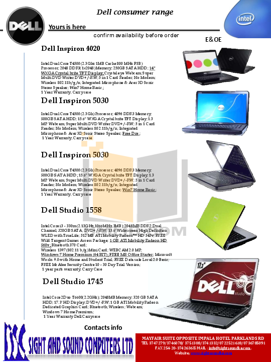 Support for inspiron 7500 | manuals & documents | dell us.