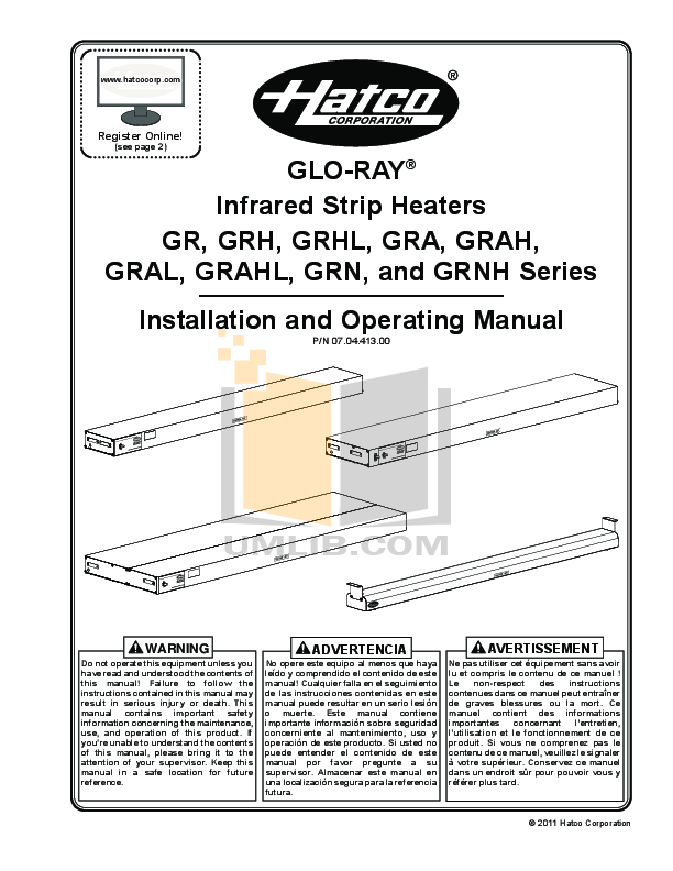 pdf for Hatco Other GRAH-60D manual
