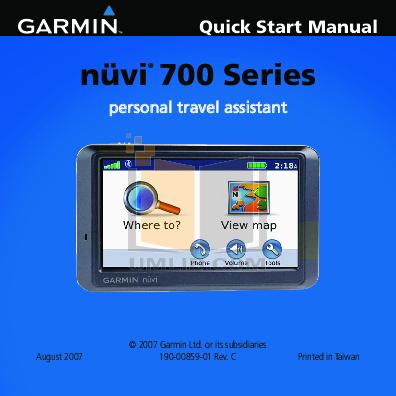 Garmin nuvi 250w manual pdf