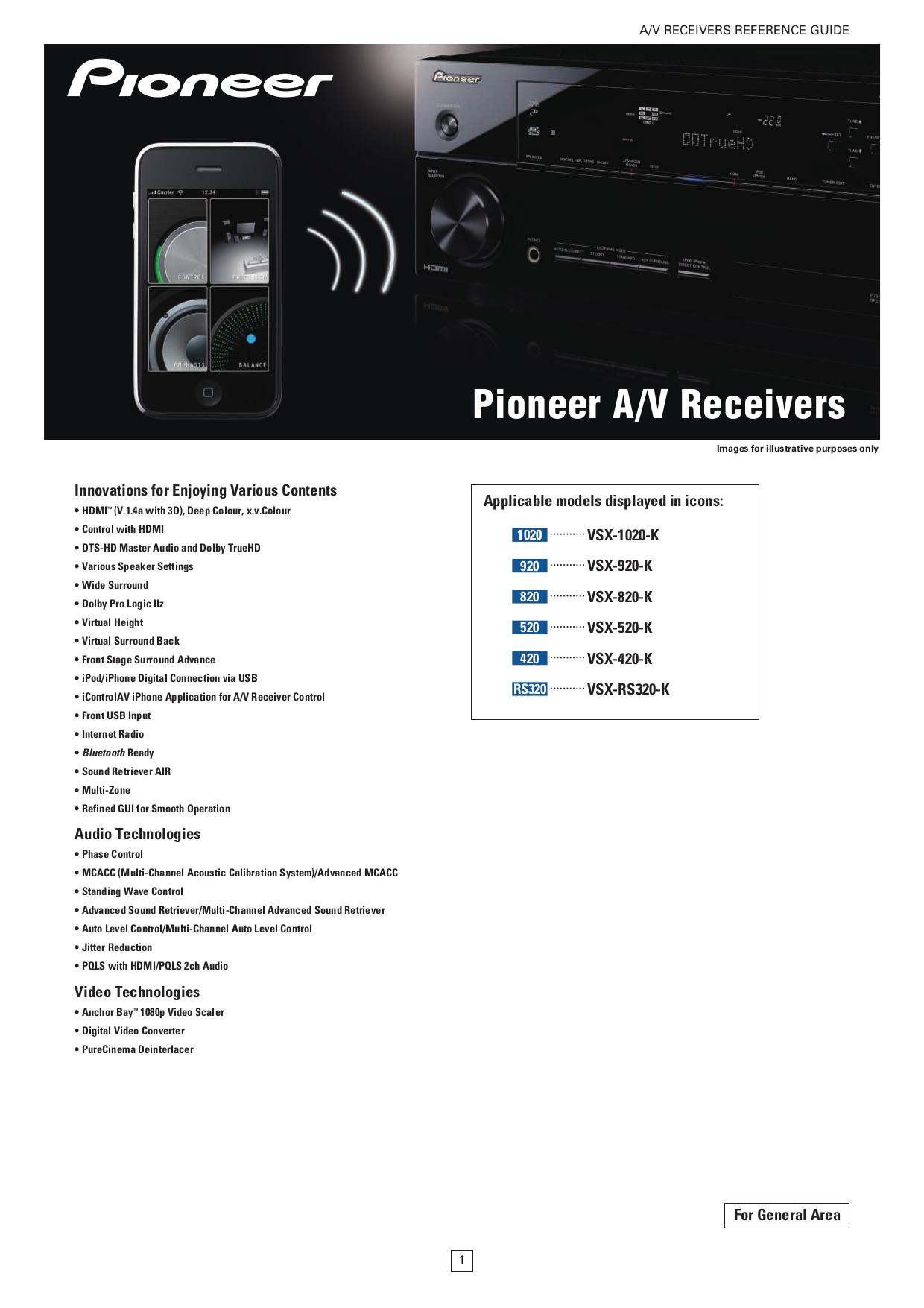 download free pdf for pioneer vsx 1020 k receiver manual rh umlib com Pioneer Spec 1 Pro-Form 955R Recumbent Bike Manual