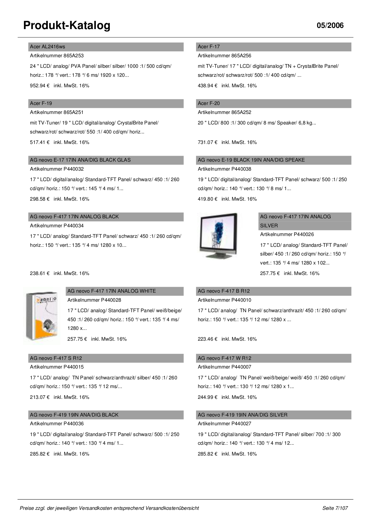 Sony Monitor SDM-S75AS pdf page preview
