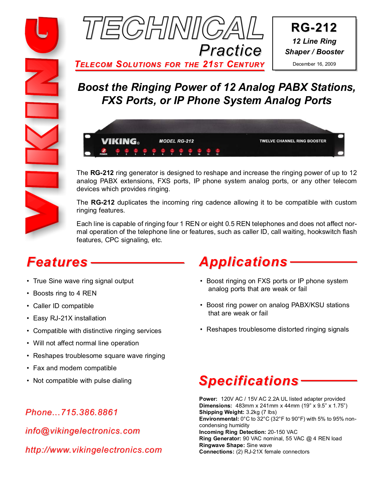 Download free pdf for Viking RG-10A Ring Boosters Other manual