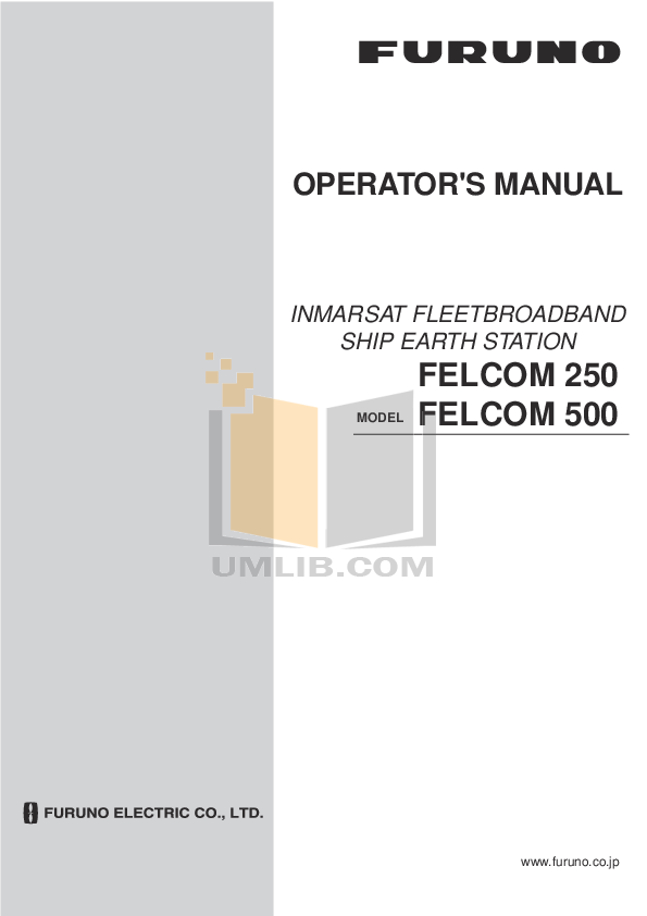 pdf for Furuno Other Felcom 30 Mobile Earth Station manual