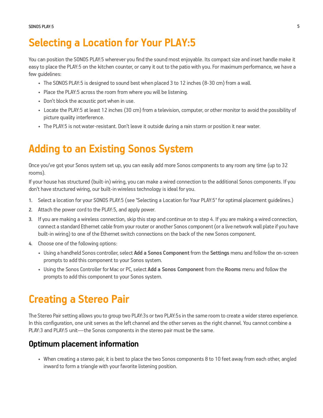 pdf manual for sonos other digital music system audio rh umlib com sonos play 5 manual gen 1 sonos play 5 user manual