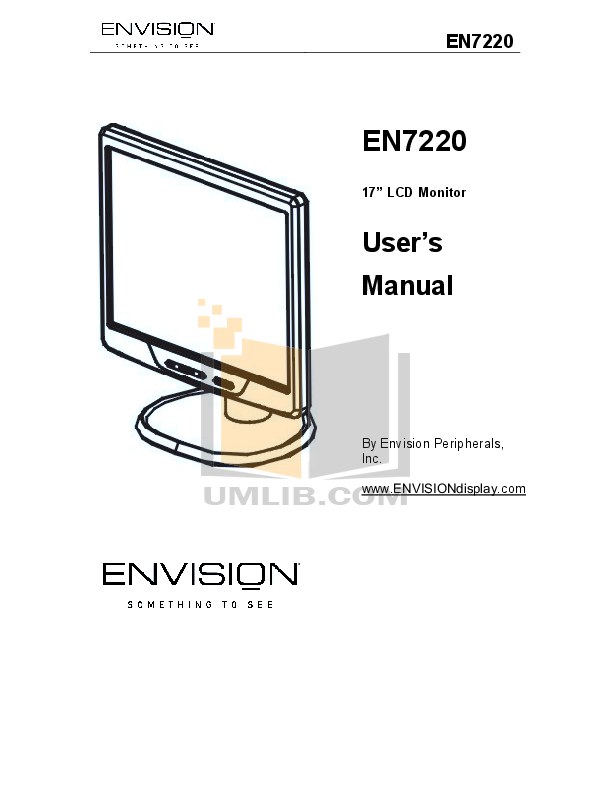 pdf for Envision Monitor EN7220 manual