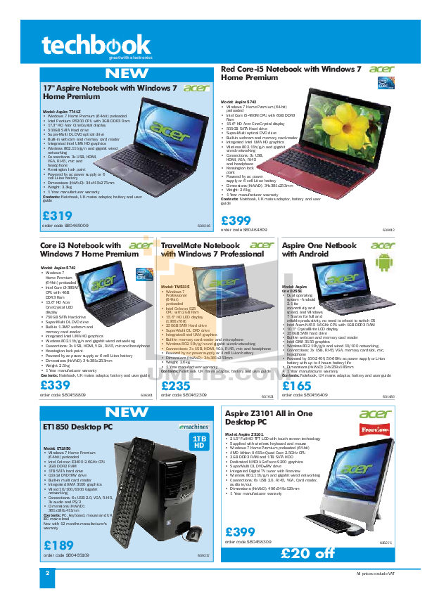 Acer Desktop Veriton 5200 pdf page preview
