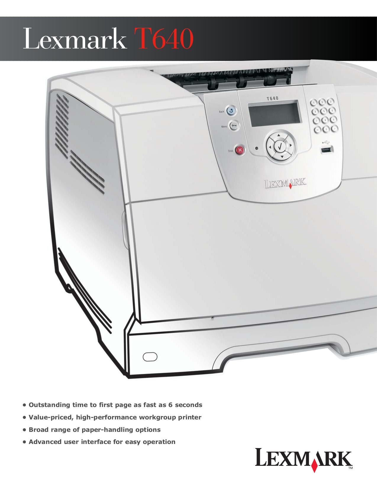 lexmark t644 printer manual open source user manual u2022 rh dramatic varieties com Lexmark T642 Service Manual PDF Lexmark T642 Service Manual PDF