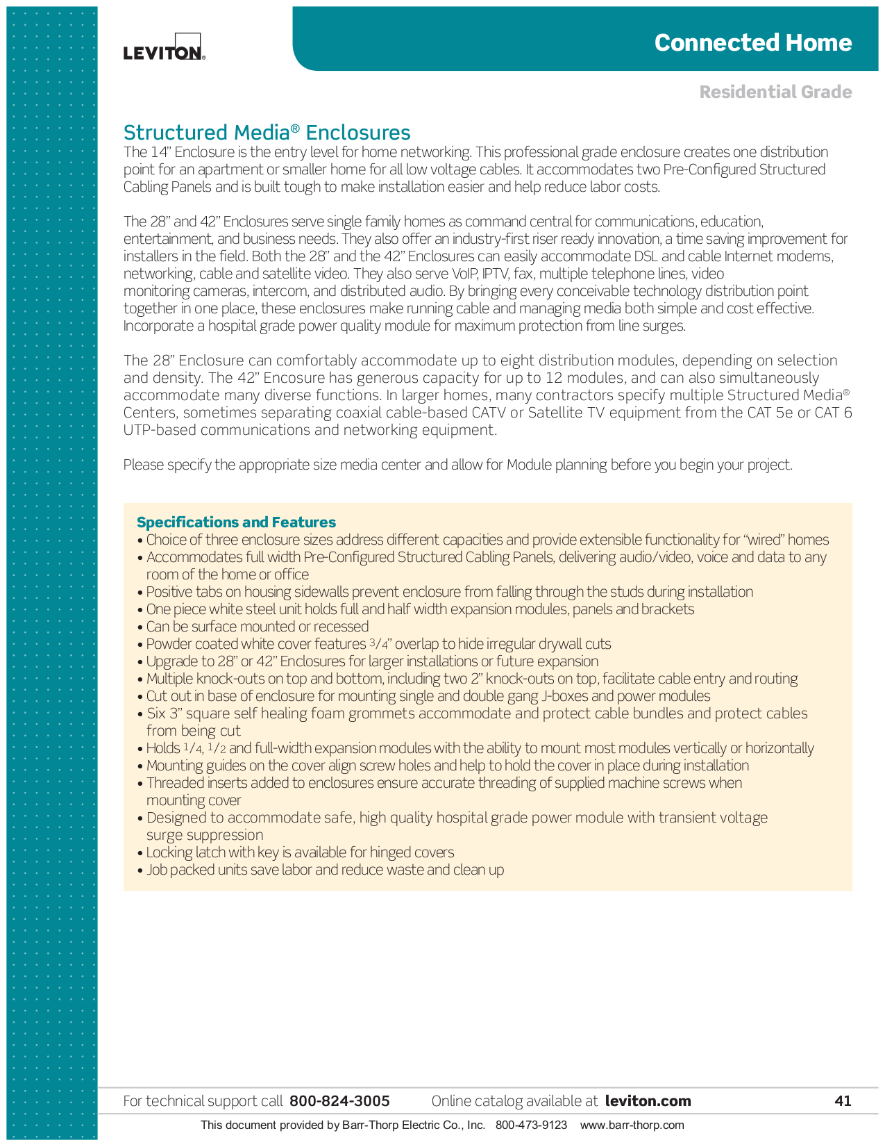 PDF manual for Leviton Other 47605-C5B Data Module