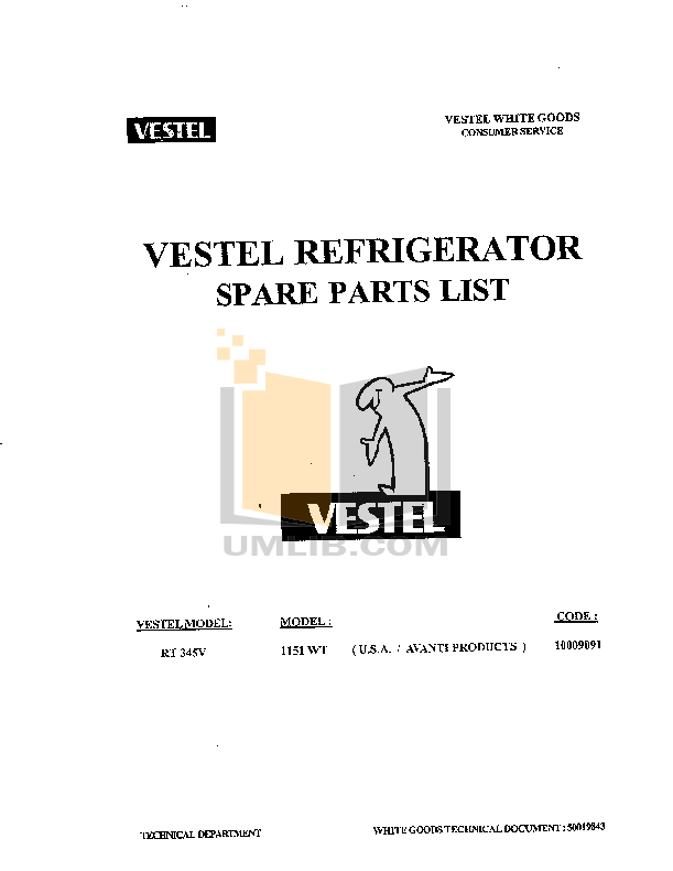 pdf for Avanti Refrigerator 1151WT-1 manual