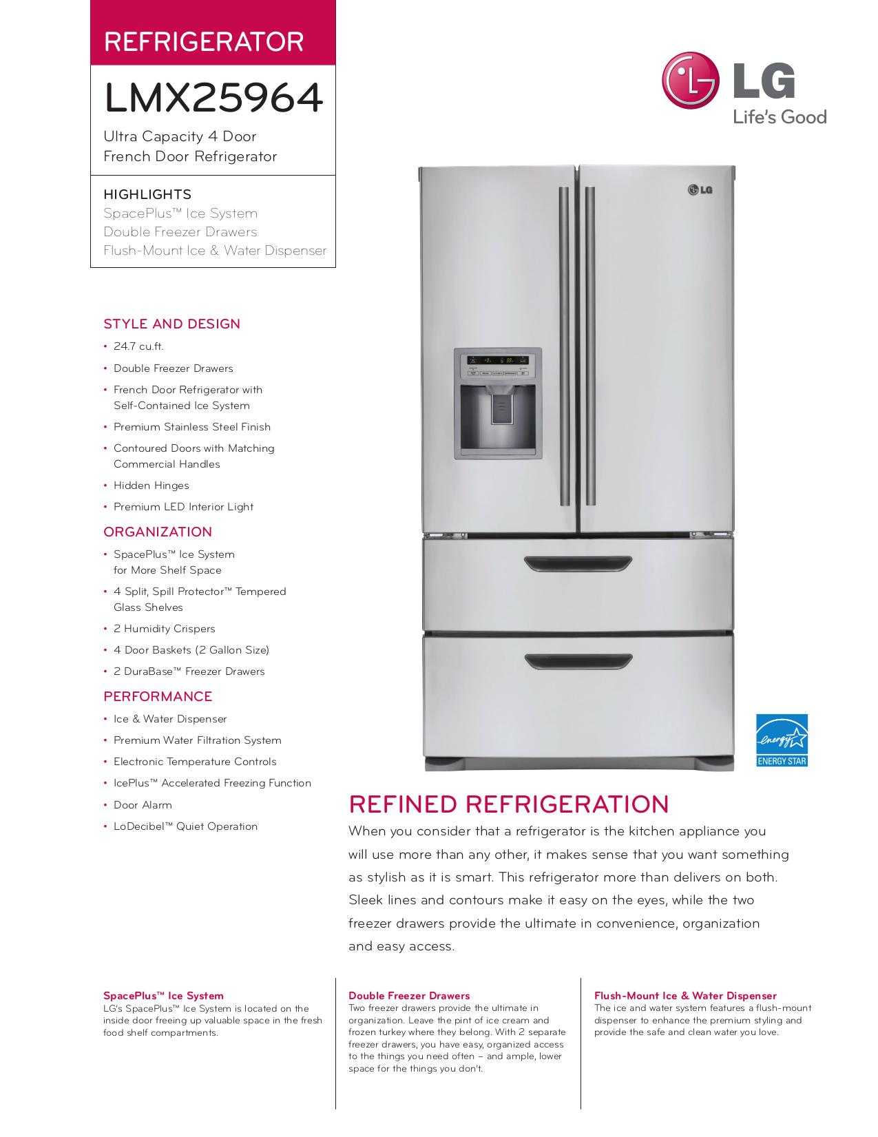 Download Free Pdf For Lg Lmx25964st Refrigerator Manual Schematics
