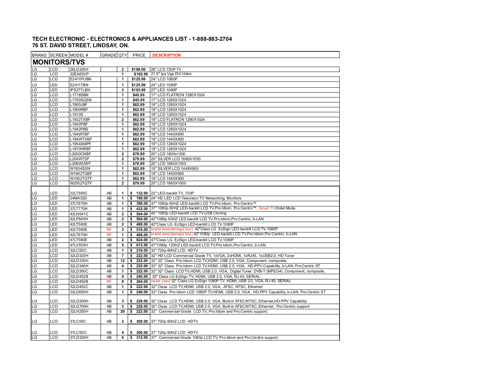 pdf for LG Refrigerator LMX25964ST manual