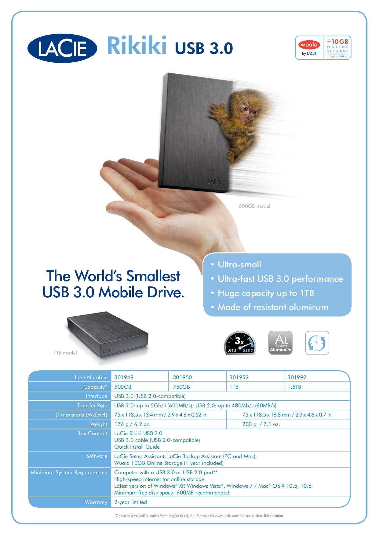 pdf for LaCie Storage 301952 manual