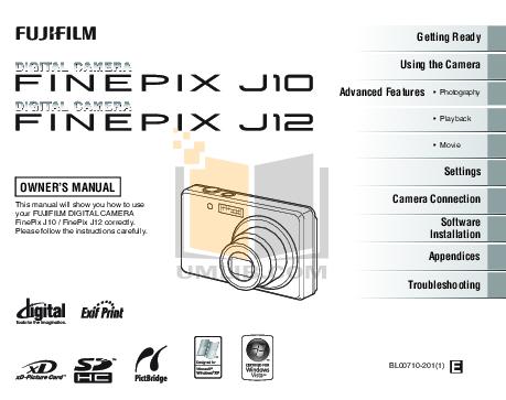 download free pdf for fujifilm finepix j12 digital camera manual rh umlib com fuji finepix j12 manual fuji finepix j12 manual