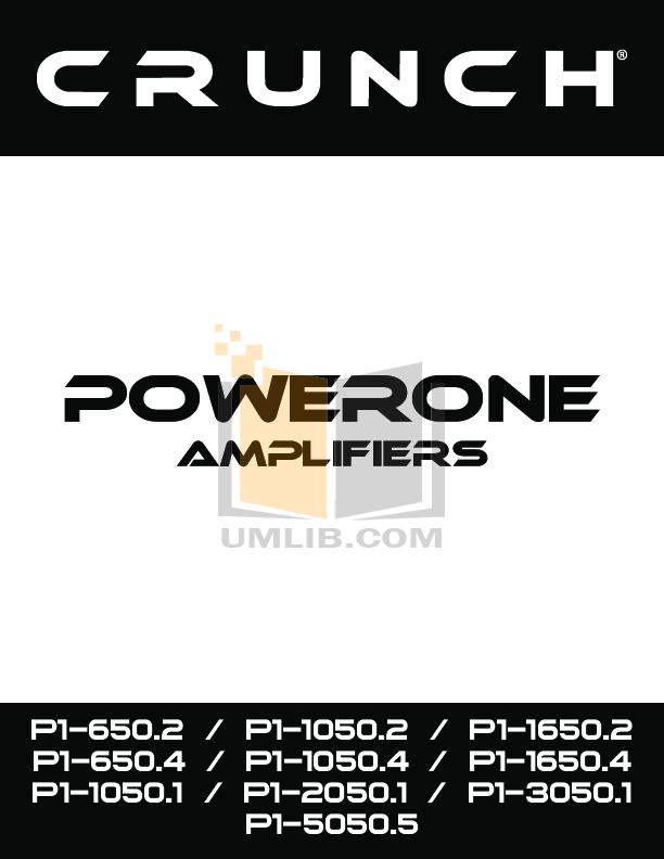 pdf for Crunch Car Amplifier P1-5000.5 manual