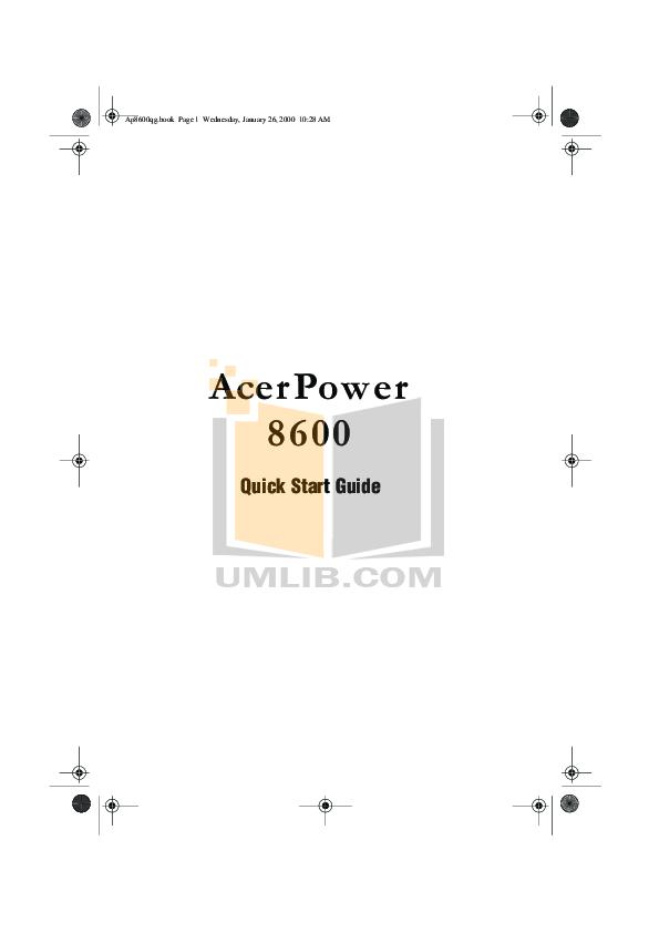 pdf for Acer Desktop AcerPower 8600 manual