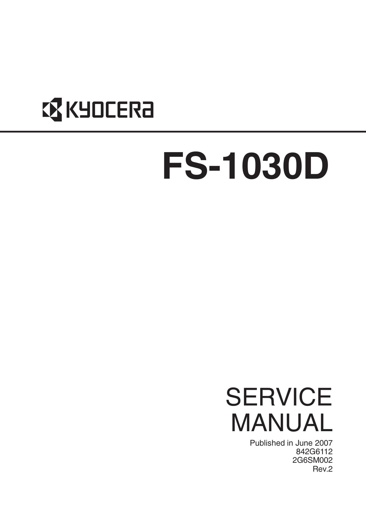 pdf for Kyocera Printer FS-1030DN manual