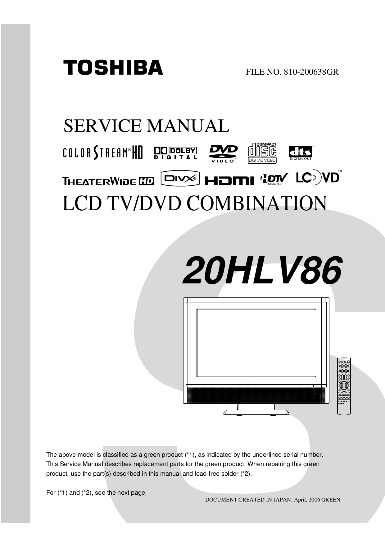 20hl85 owner's manual english toshiba canada.