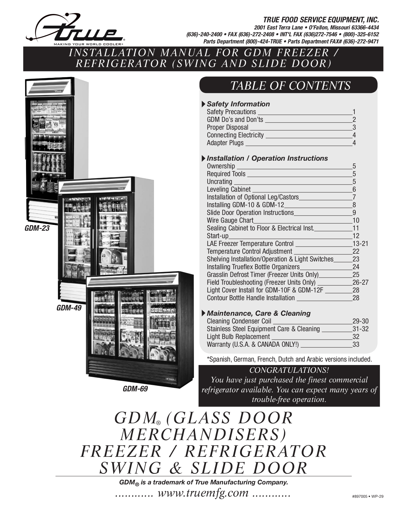 GDM Freezer_Refrigerator.pdf 0 download free pdf for true gdm 26 refrigerator manual True Cooler Wiring Diagrams at fashall.co