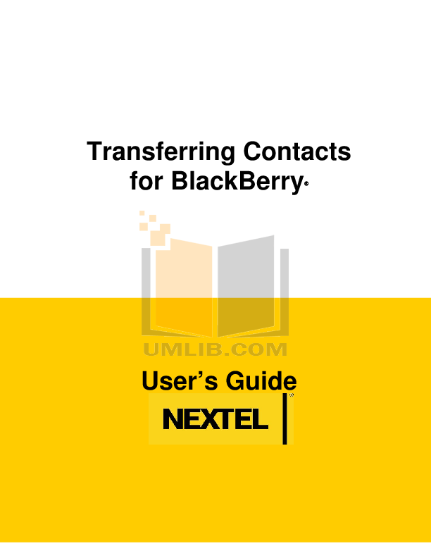 pdf for Blackberry Cell Phone 7510 manual