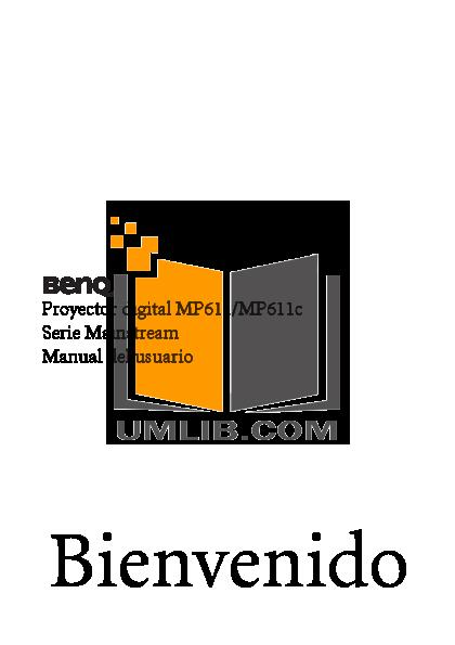 pdf for Benq Projector MP611C manual