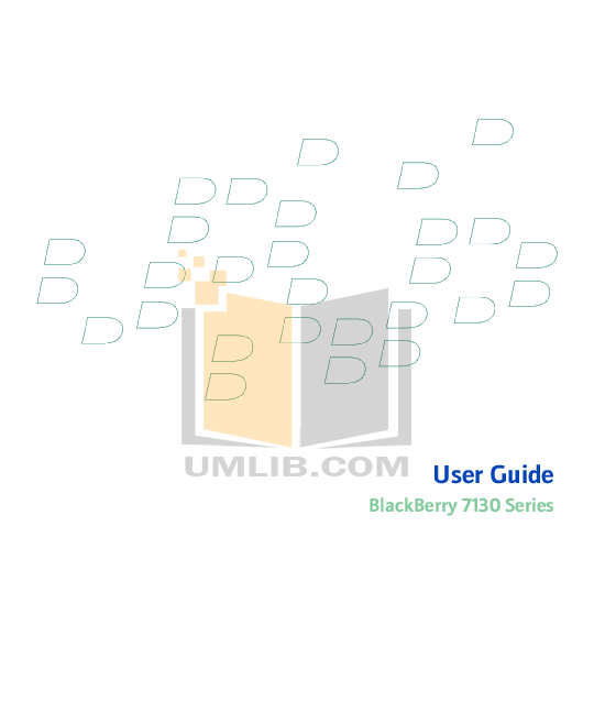 pdf for Blackberry Cell Phone 7130g manual