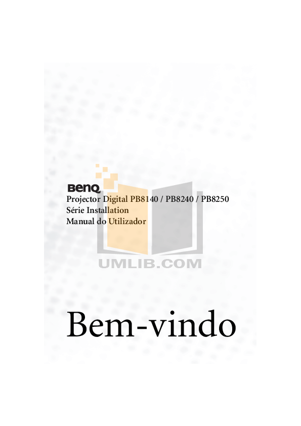 Benq Projector PB8240 pdf page preview