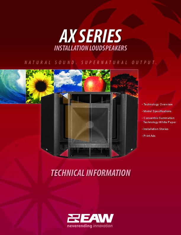 pdf for Eaw Speaker System MK2199 manual