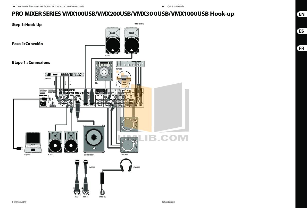 Behringer vmx300 instruction manual.