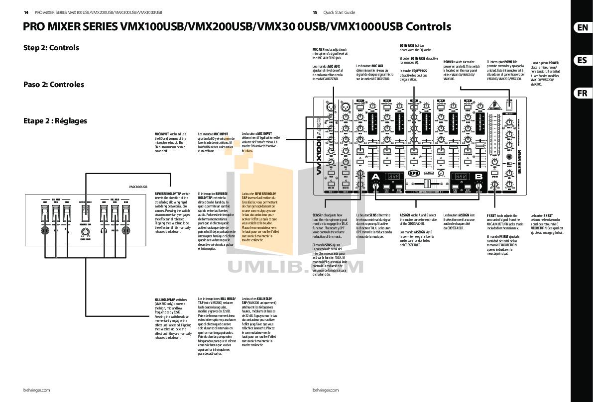 Behringer mixer manuals.
