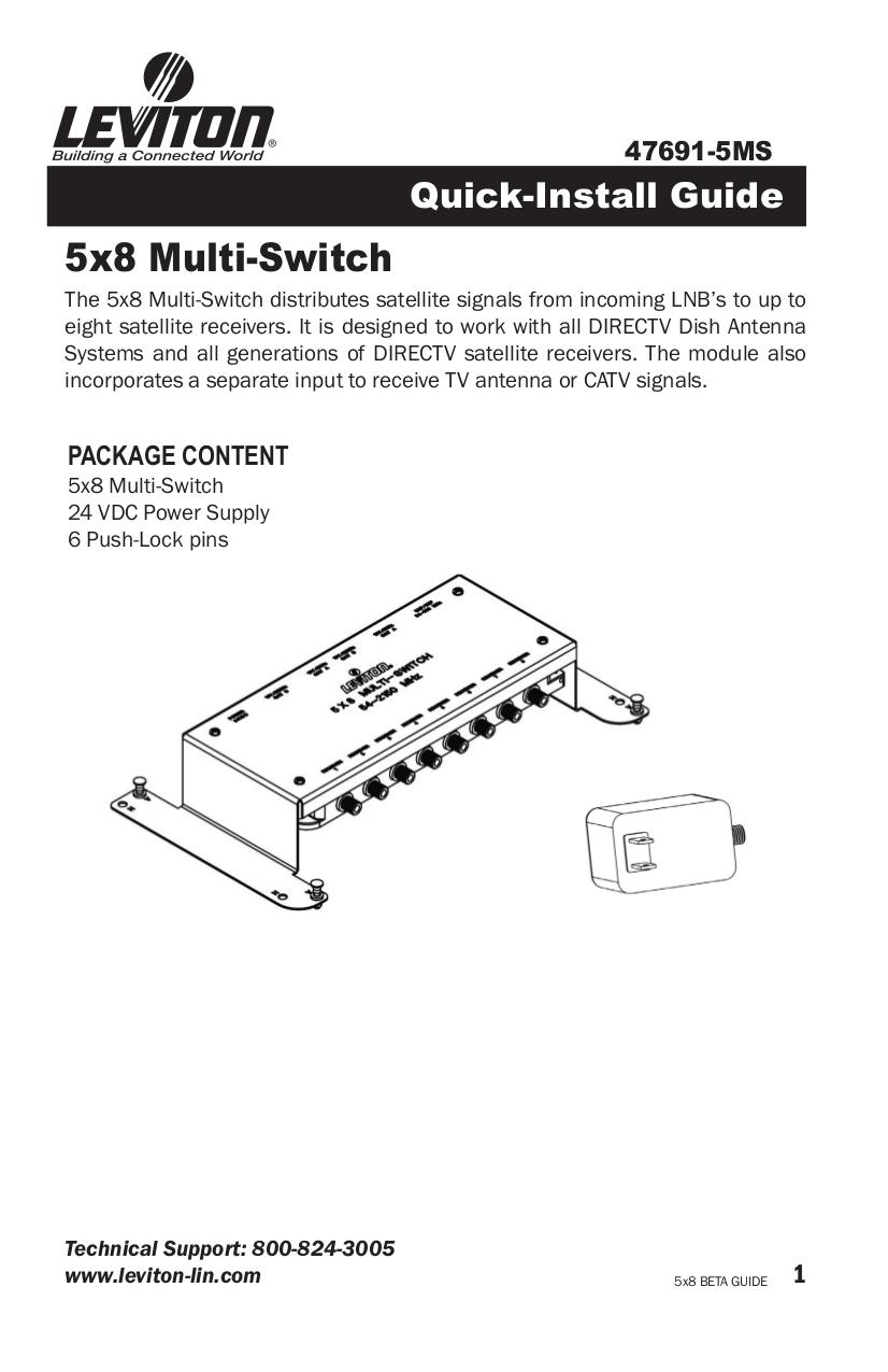 Download free pdf for Leviton 47691-5MS Switch manual