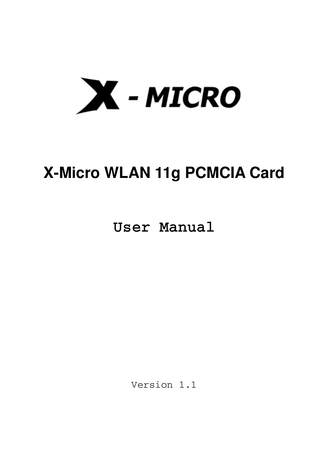 X-Micro Other XWL-11GPRG PCMCIA Cards pdf page preview