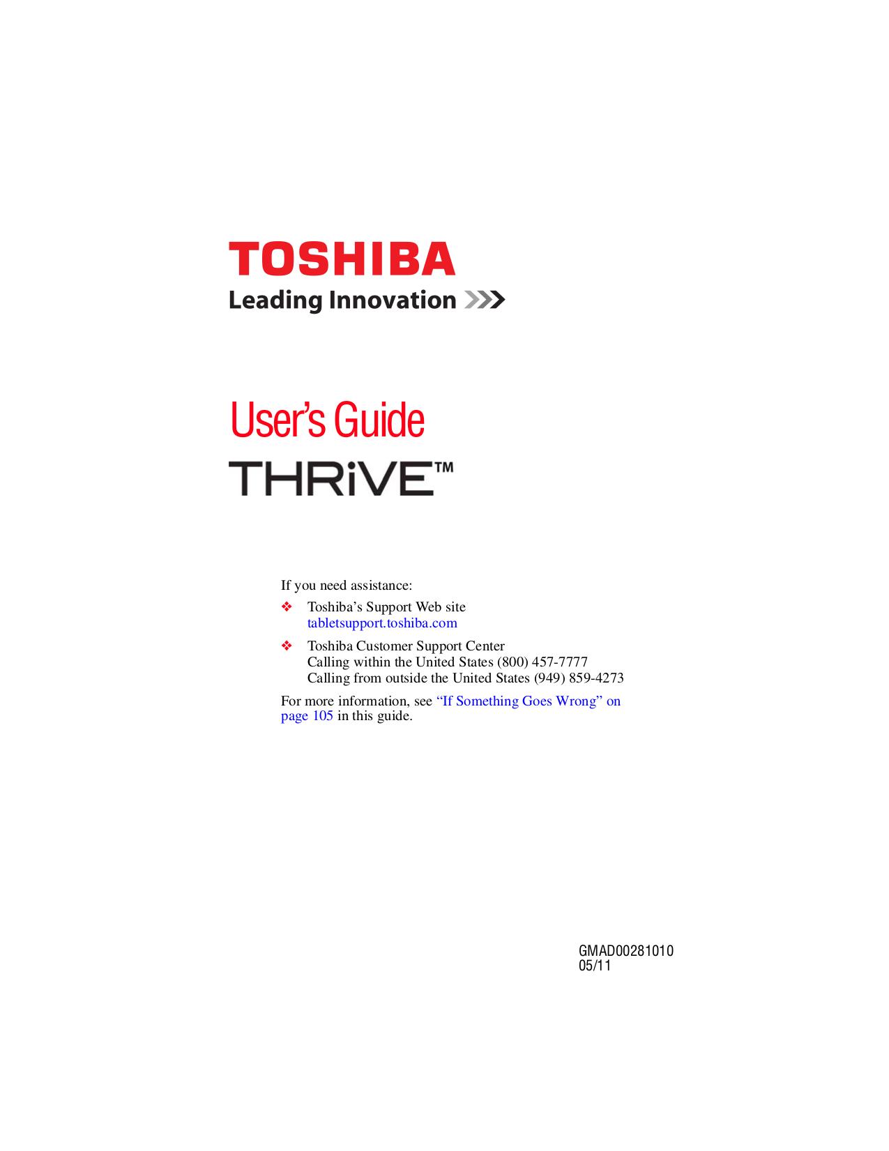 pdf manual for toshiba tablet thrive 10 1 8gb rh umlib com Thrive Supplements Toshiba Thrive Battery