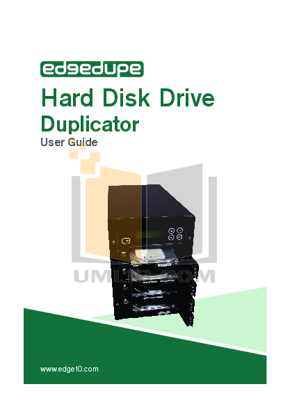 pdf for Edge10 Other EdgeDupe 1 to 1 DVD Duplicator manual