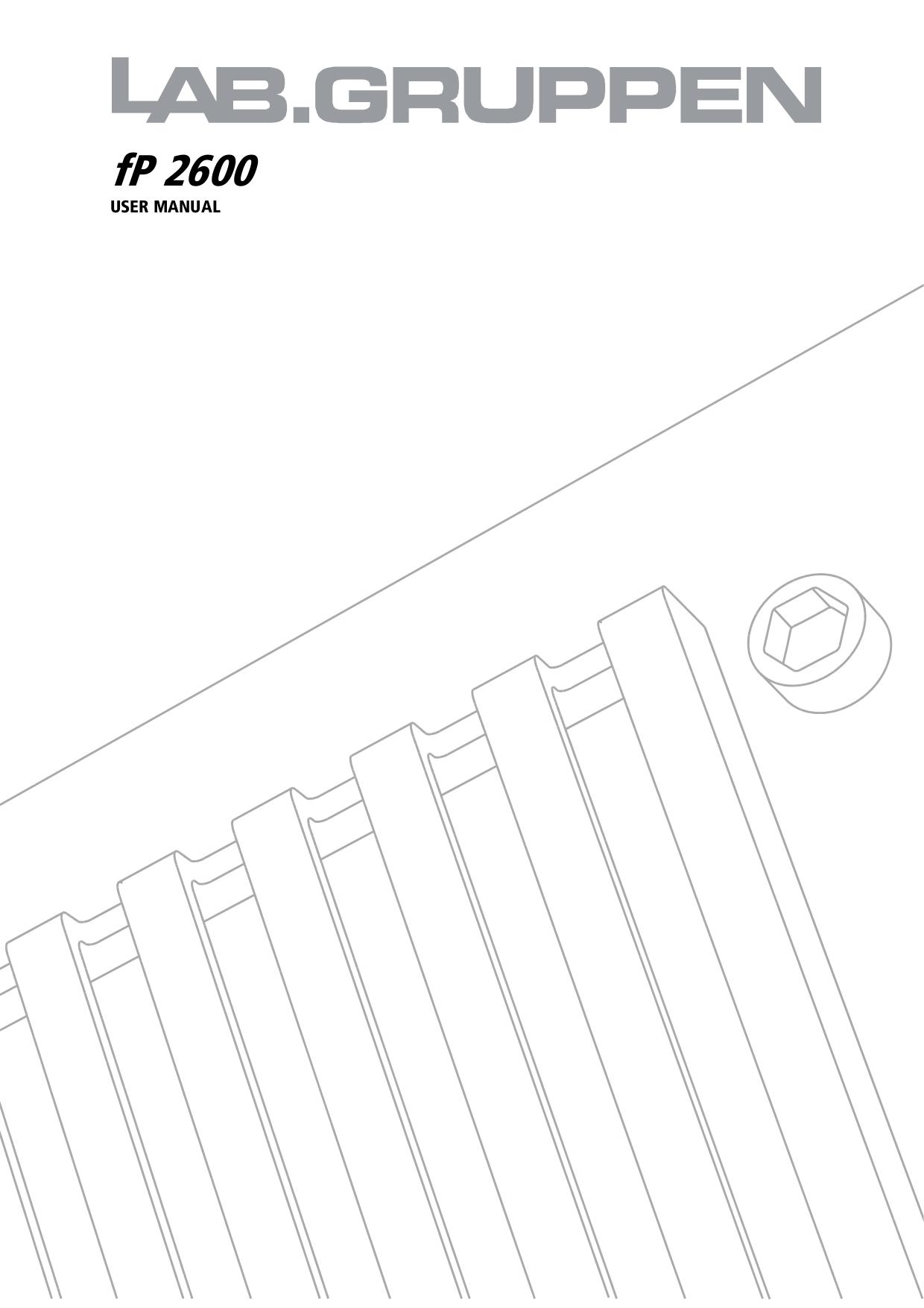 pdf for Lab.gruppen Amp fP Series FP 2600 manual