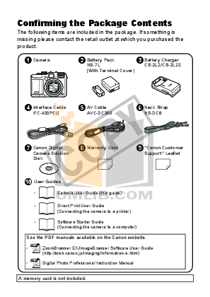 Canon Digital Camera Powershot G10 IS pdf page preview