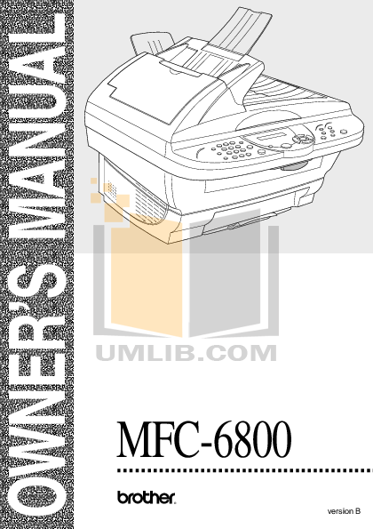 download free pdf for brother mfc 6800 multifunction printer manual rh umlib com brother mfc 6800 dw driver brother mfc 8600 manual