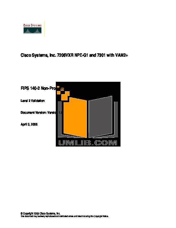 pdf for Cisco Router 7206VXR manual