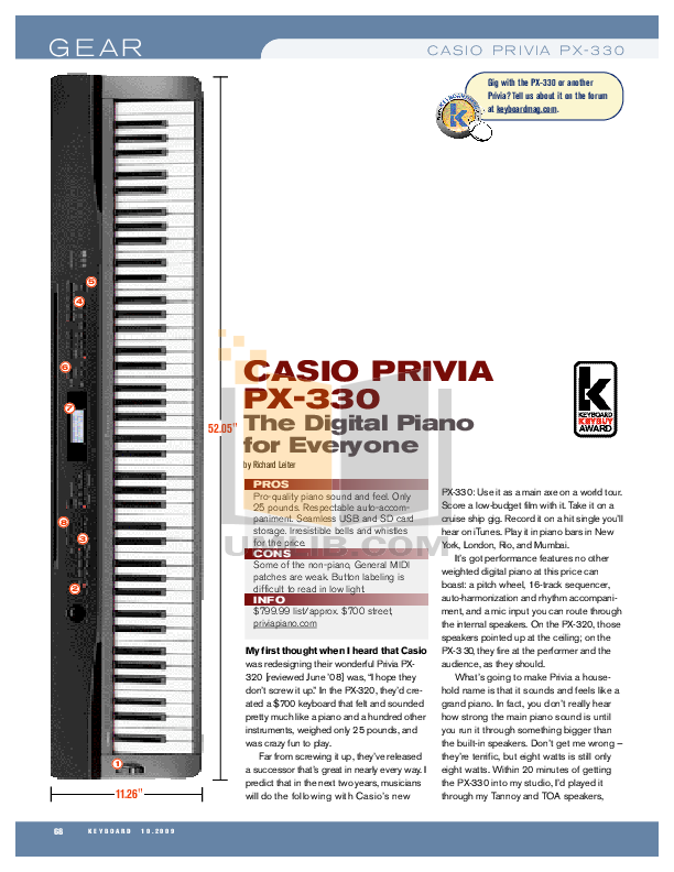 download free pdf for casio px 300 music keyboard manual rh umlib com Casio Privia PX- 780 Casio Privia PX- 780