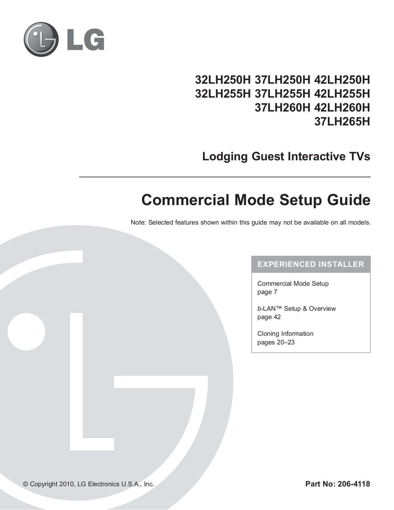 pdf for LG TV 32LH255H manual