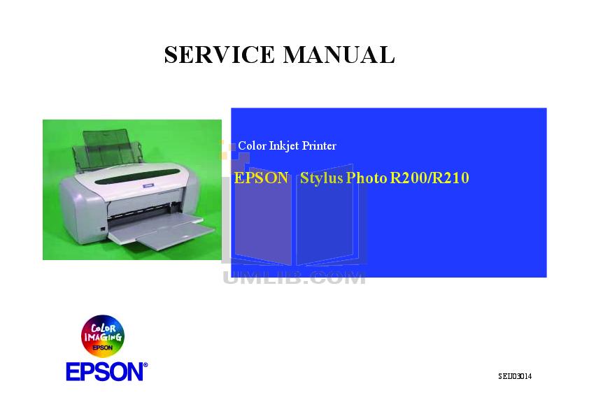 download free pdf for epson stylus photo r290 printer manual rh umlib com Parts Manual Parts Manual