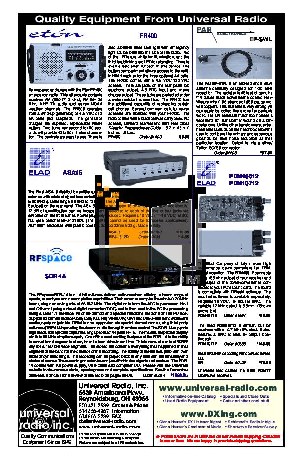 Download Free Pdf For Eton Fr400 Radio Manual Manual Guide