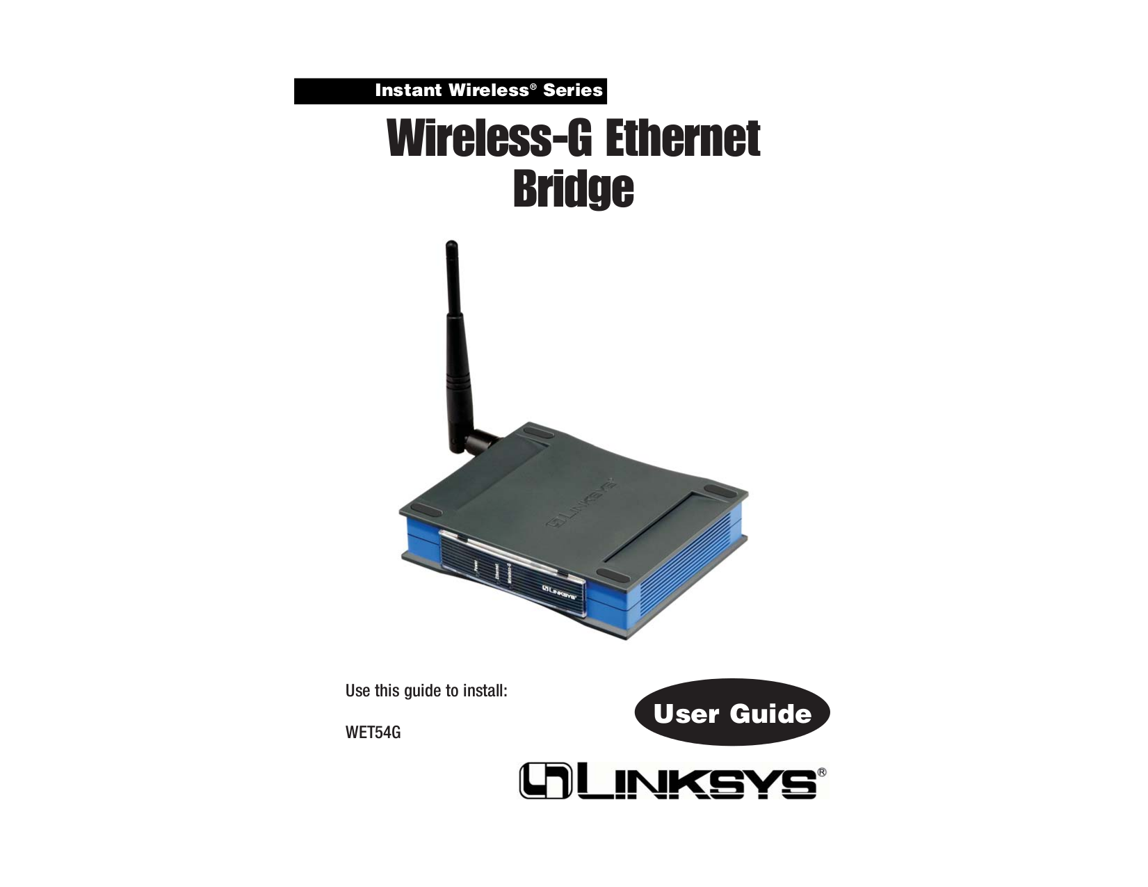 pdf for Linksys Switch WET54GS5 manual
