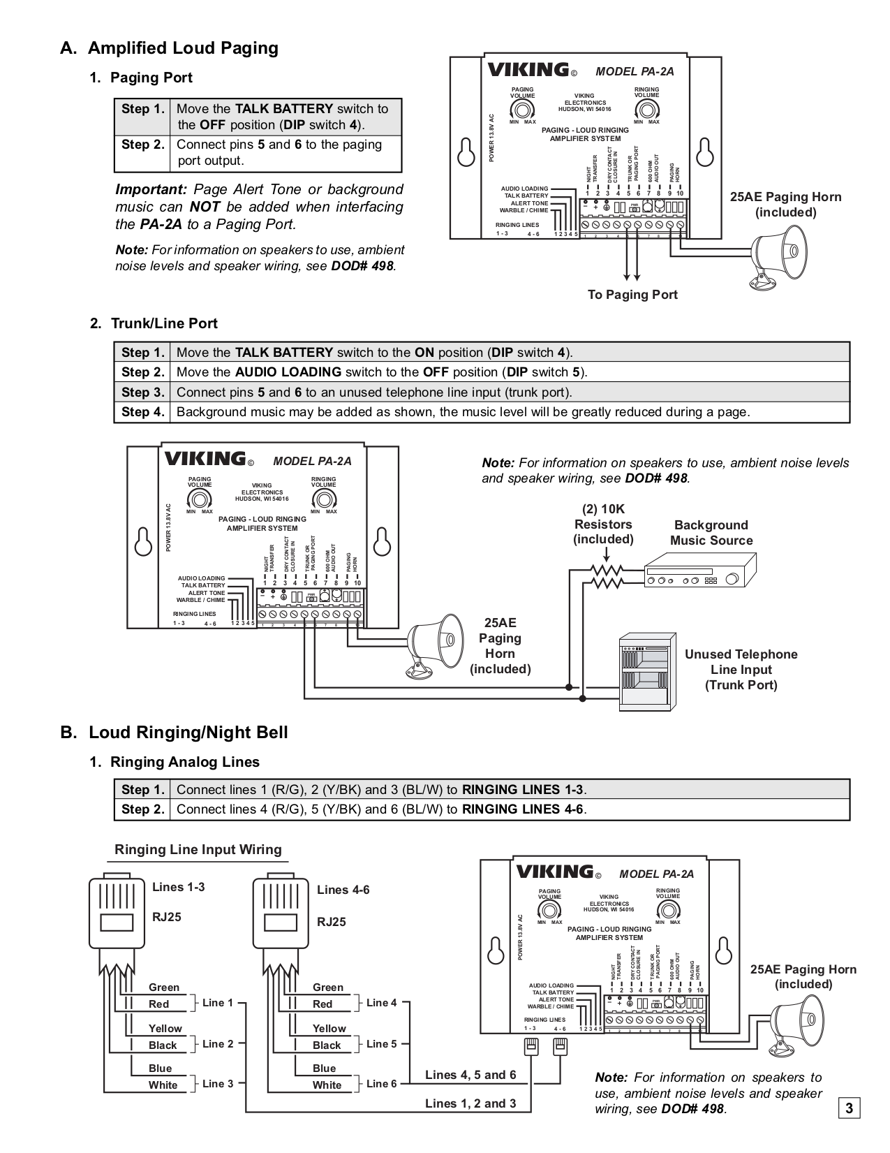 Viking 25ae Paging Horn Wiring - Wiring Diagram Schematic on