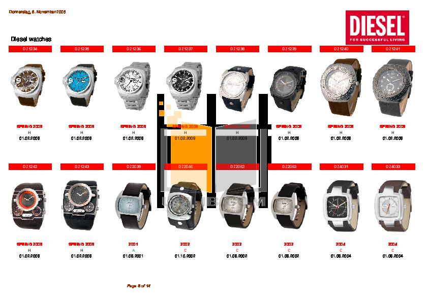 Diesel Watch DZ5104 pdf page preview