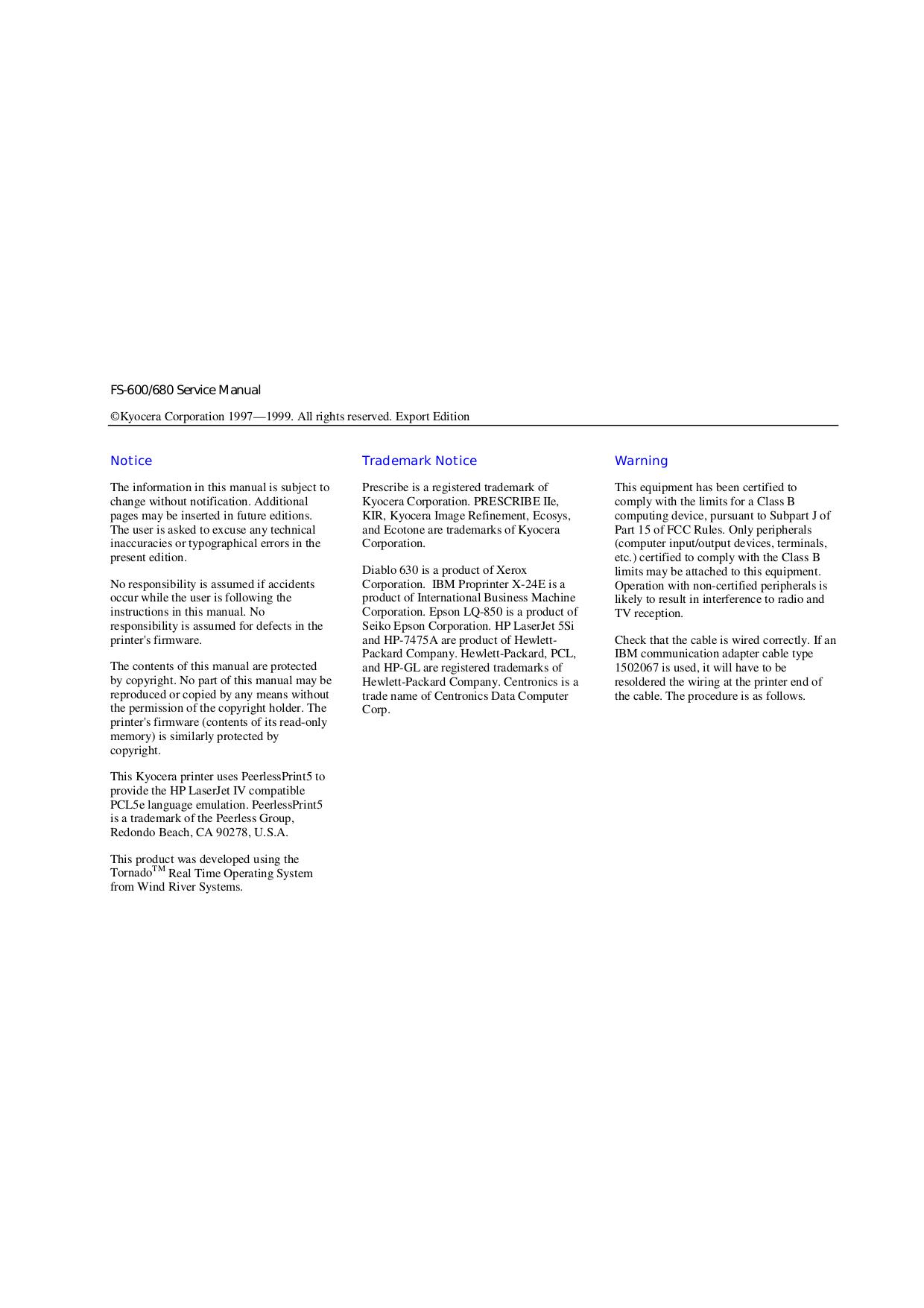 PDF manual for Kyocera Printer FS-8000C