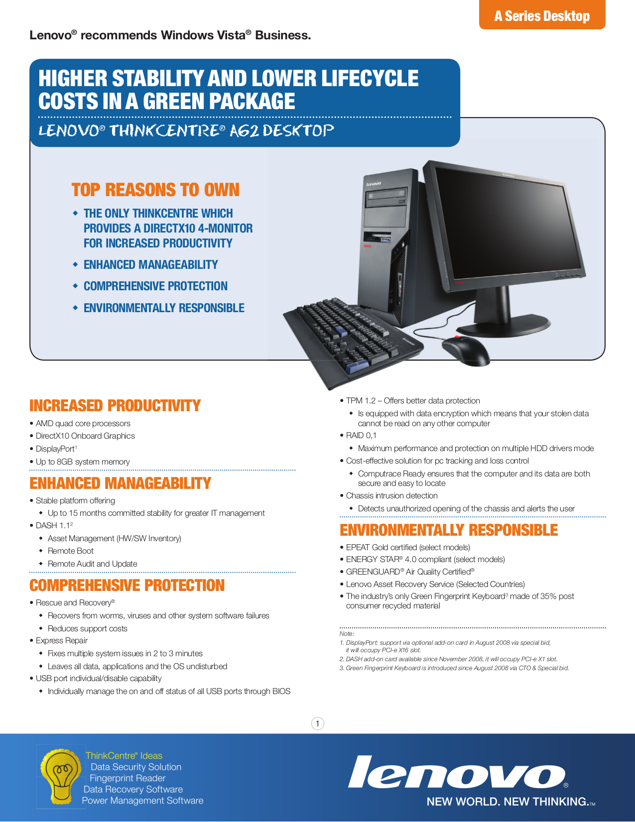 pdf for Lenovo Desktop ThinkCentre A62 9705 manual