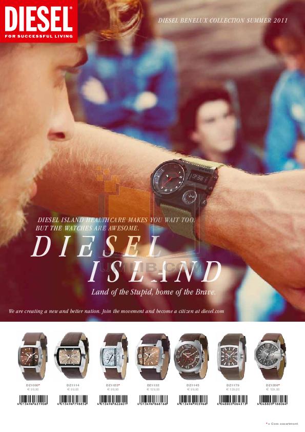 pdf for Diesel Watch DZ1145 manual